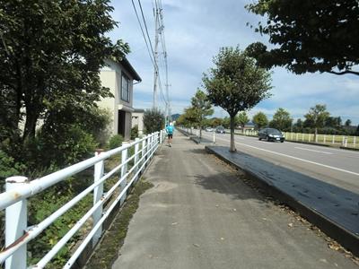前を走るNakayoshiさん