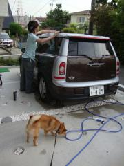 車のお掃除