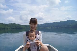 青木湖ボート