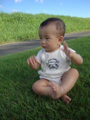 芝生上陸②