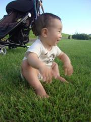 芝生上陸①