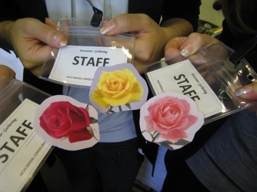 スタッフのバラ