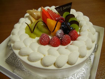 新築祝いのケーキ
