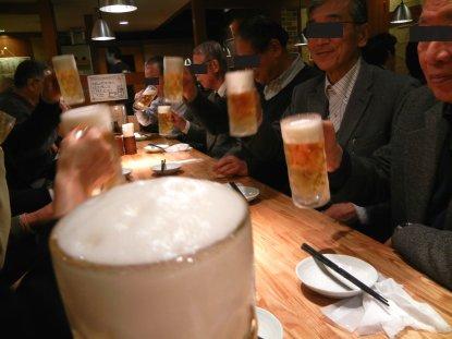 131217ビールで乾杯