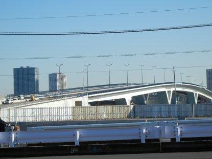 建設中の豊洲大橋