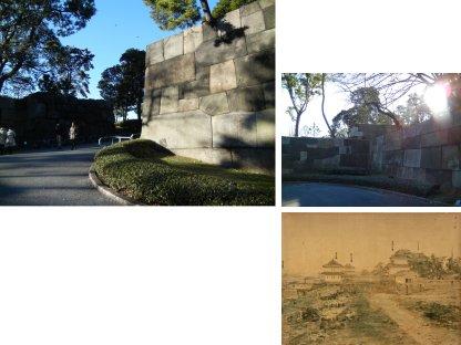 中雀門と書院二重櫓台跡