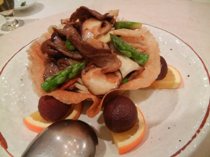 花籠盛り海鮮サラダ