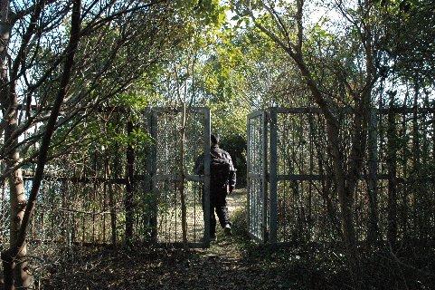 保護区入り口