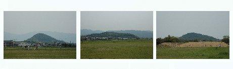 藤原宮から見た大和三山