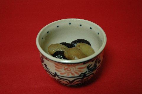 安南鉢と花豆