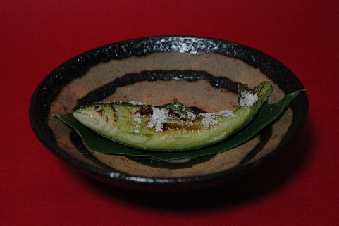 鮎の笹焼き
