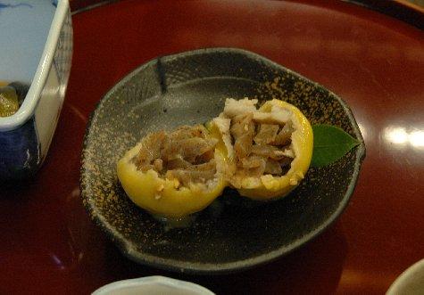柚子玉の中味