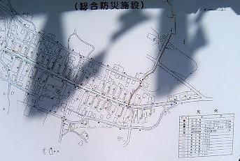 大内宿の道路地図