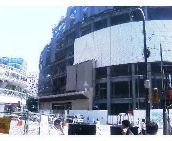ビフォー/有楽町駅から観る建設中の丸井
