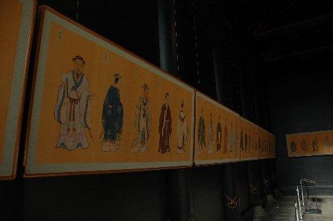 復元された内陣壁画