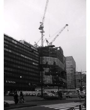 工事中のノースタワー