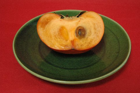 ジャンボ富有柿の半切り・冷蔵保存