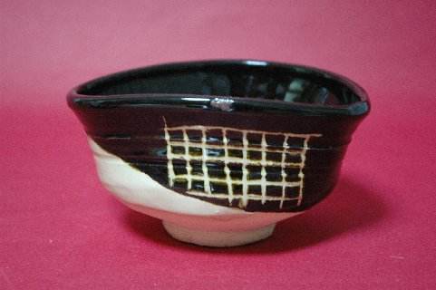 黒織部茶碗もどき