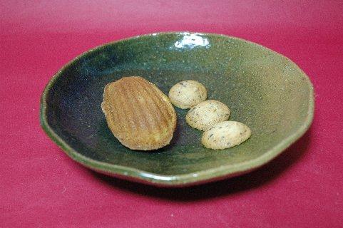 焼菓子onグラジェーション織部皿