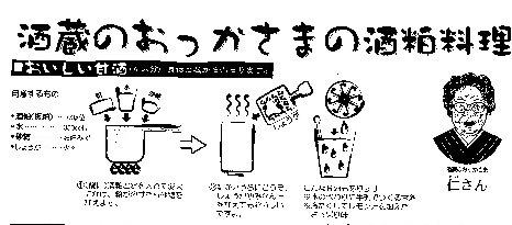 酒粕からの甘酒造り