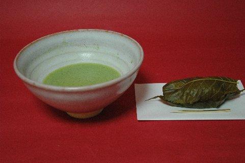 井戸茶碗もどきと道明寺