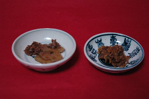 柿安しぐれ煮on小皿
