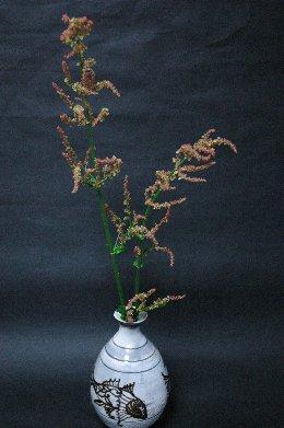 スカンポの花in鶏龍山魚文瓶写し