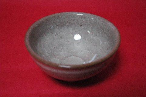 米色青瓷茶碗 結晶の様子