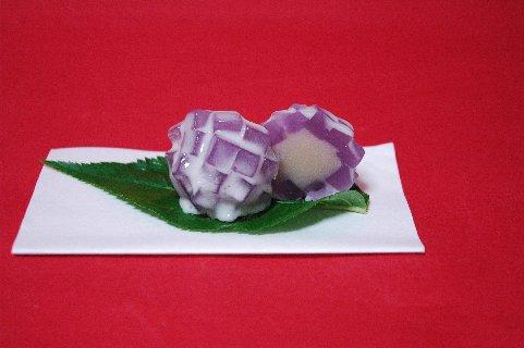 ささまの上生菓子、'紫陽花'
