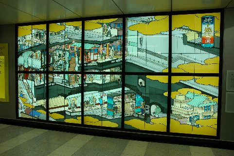 各駅の壁面