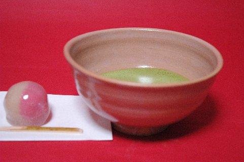 赤織部茶碗