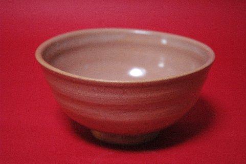 赤織部茶碗・正面
