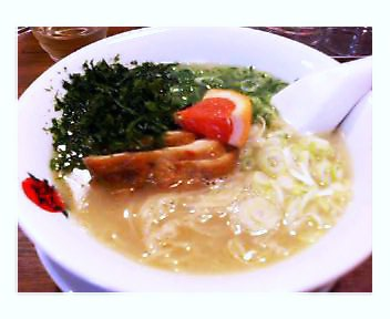 アオサ入鶏パイタン麺