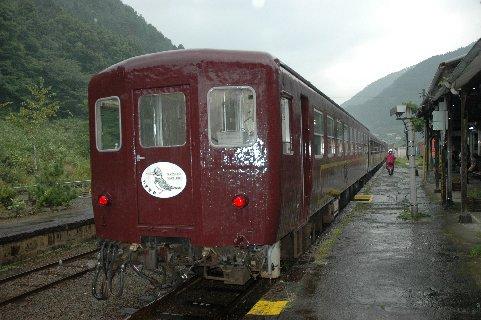 列車編成前のわたらせ渓谷号