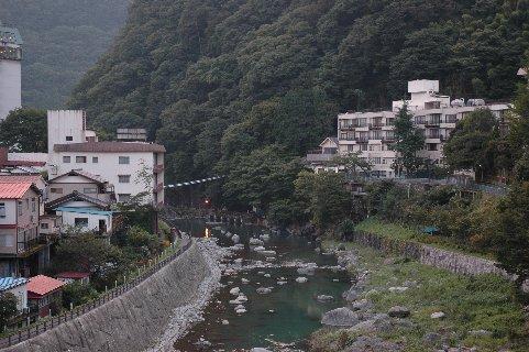 川治温泉の川