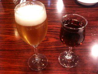 ビールと甕だし紹興酒