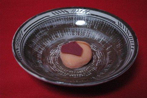 青野の鳴子in三島茶碗