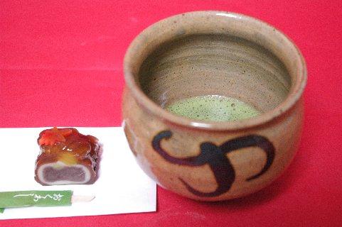 李朝鉄絵塩笥茶碗写し