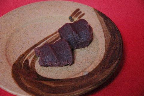 赤福もちon熨斗文皿