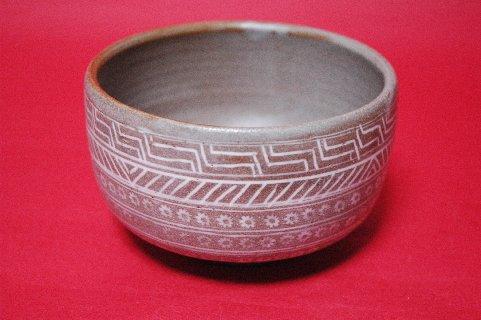 三島象嵌筒茶碗写し・正面