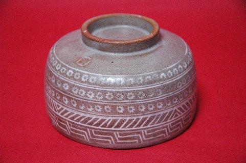 三島象嵌筒茶碗・高台