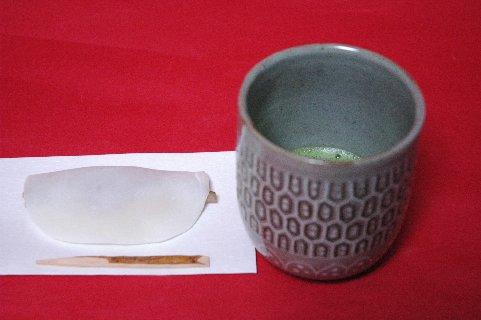 古雲鶴茶碗写し