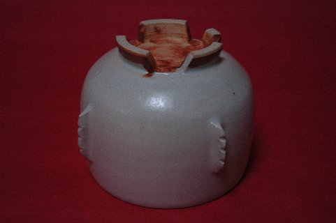 李朝白磁鉢形割高台茶碗写し・高台