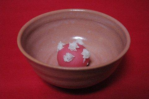 冬籠 in 赤織部碗