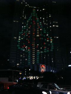 プリンスホテル赤坂の壁面ツリー