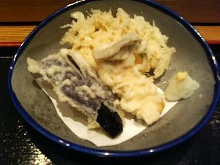 天麩羅(エリンギ、茄子、エノキ・ゴボウ)