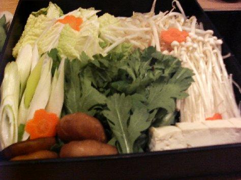 あんこう鍋の野菜