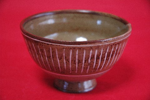 柳原焼三島写茶碗の写し・正面
