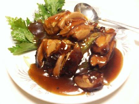 牡蠣油焼鶏