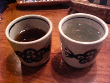 ほうじ茶と紫蘇茶